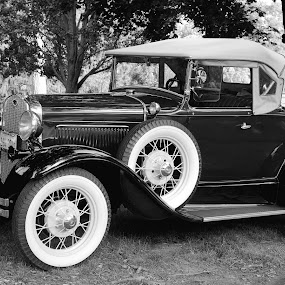 Is It 1931 Or Is It Yesterday by Stephen Beatty - Black & White Street & Candid ( model a roadster, 1931 ford 1931 model a,  )