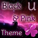 GO Launcher Tema Rosa y Negro icon