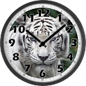 White Tiger Clock icon