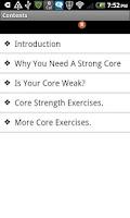 Screenshot of Core Training Program