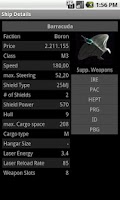 Screenshot of X3 TC Ship list