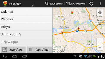 Screenshot of Spot Search