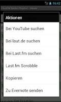 Screenshot of FluxFM Playlist & Stream