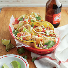 Beer-Battered Fish Tacos with Chipotle Crema