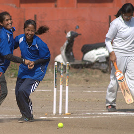There she goes.... by Pooja Cornelius - Sports & Fitness Cricket