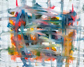 <p> <strong><em>Red-Yellow-Blue + White 5</em>, oil on canvas, 24 x 30 inches, 2013. SOLD: Private collection, Vancouver, BC.</strong></p>