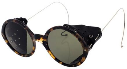 retro glasses with leather blinkers