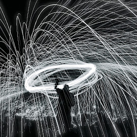 Wire wool spinning by Ang Gillespie - Digital Art Places