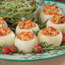 Vegetable-Stuffed Baked Onions