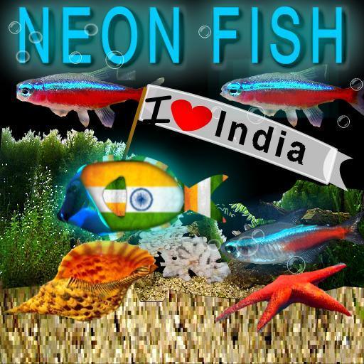 冒泡霓虹燈印度魚高清 LOGO-APP點子