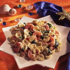 Bow Tie Pasta With Shrimp & Spinach