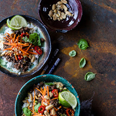 20 Minute Thai Basil Beef and Lemongrass Rice Bowls.