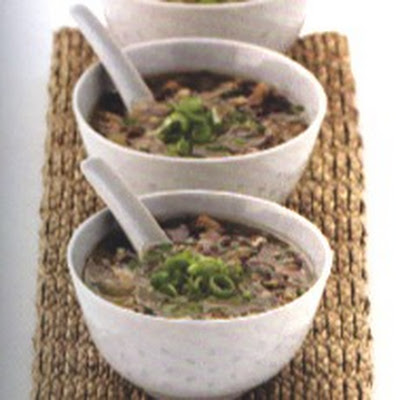 Shiitake Broth with Sesame Toast