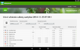Screenshot of SEB Lietuva