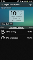 Screenshot of Digital Clock Widget Xperia