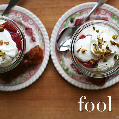 Rhubarb Fool with Cardamom Cream