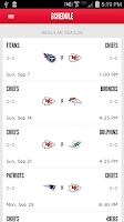 Screenshot of Chiefs Mobile