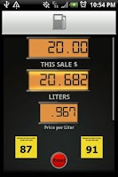 Screenshot of Gas Pump Calculator