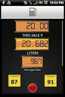 Screenshot of Gas Pump Calculator
