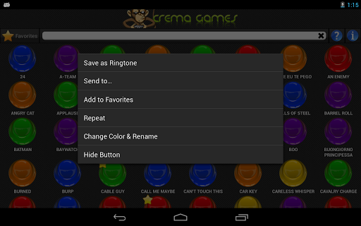 instant-buttons for android screenshot