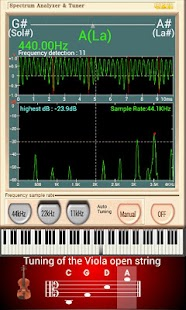Spectrum Tuner Viola - screenshot