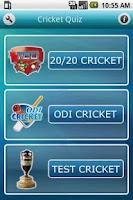 Screenshot of Cricket Quiz