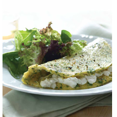 Fines Herbes Whipped Cream Cheese Omelet