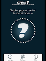 Screenshot of CTQui Annuaire Inversé