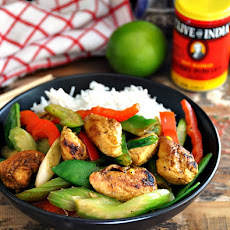 Honey, Lime & Curry Chicken Stir Fry