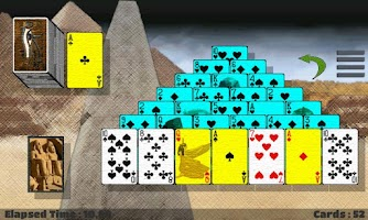 Screenshot of NDeck Pyramid Solitaire