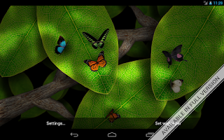 Screenshot of Tap Leaves Free Live Wallpaper