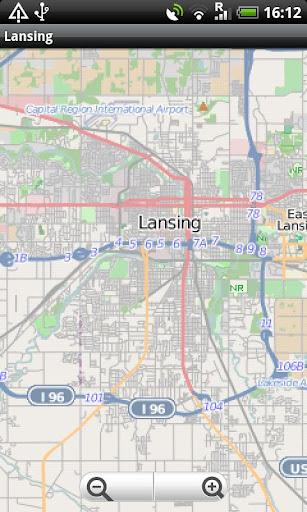 Lansing Street Map