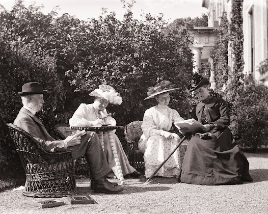 The Dillon family relaxing at home, Clonbrock, Ahascragh, Co. Galway, 1900. (CLON 383).