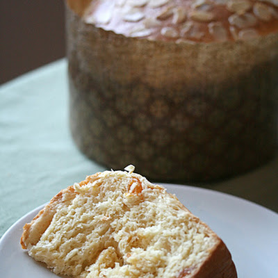 Saffron Panettone with Apricots and Almonds