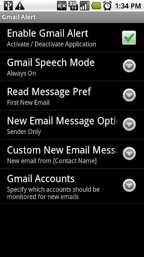 Gmail Speech Alert Trial