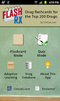 Screenshot of FlashRX by ClinCalc