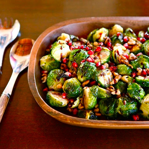 Roasted Brussels Sprouts with Pomegranate Molasses