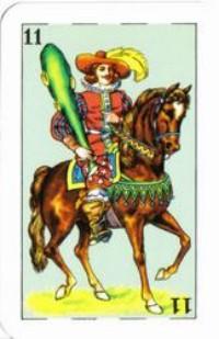 Cavaleiro de Paus, baralho mexicano