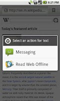 Screenshot of Read Web Offline
