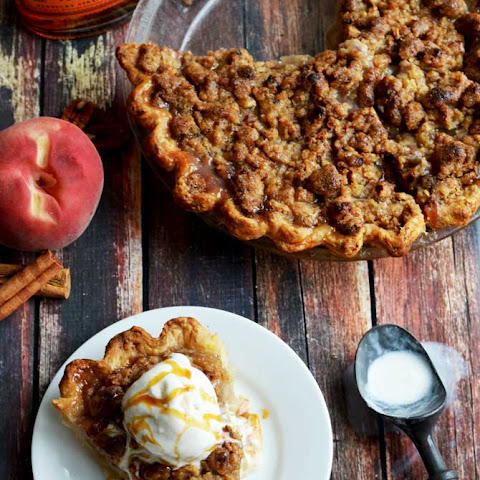 Maple Bourbon Brown Butter Peach Pie
