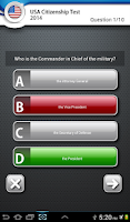 Screenshot of USA Citizenship Test 2015