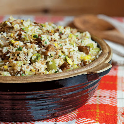 Chestnut, Wild Rice, and Pistachio Dressing