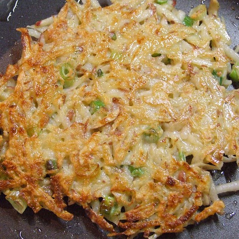 Potato Pancakes with Scallions