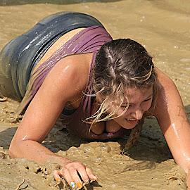 muddy  fun  by Dale Wooten - Sports & Fitness Other Sports ( muddy, water, sexy, mud, female, dirty, run, mud run, running,  )