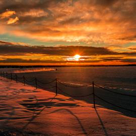 Alberta Beach City Park by Joseph Law - City,  Street & Park  City Parks ( city parks, winter, cold, snow, sunshine, light poles, alberta beach )