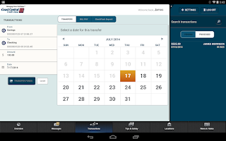 Screenshot of Coast Central Mobile