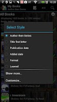 Screenshot of Book Catalogue