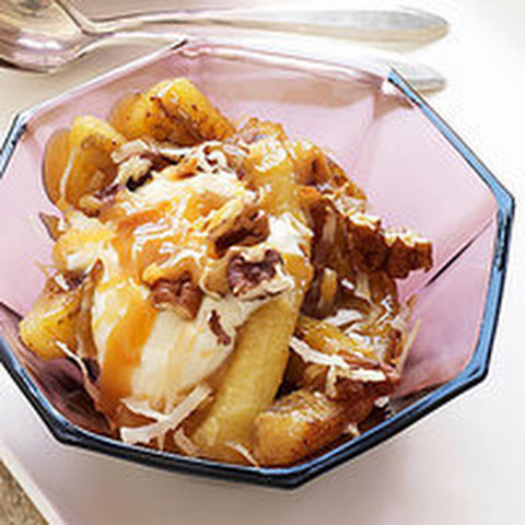 Caramelized Bananas with Toasted Nuts and Pecans