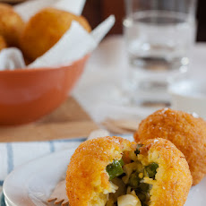 Arancine With Asparagus, Hard-boiled Egg And Taleggio