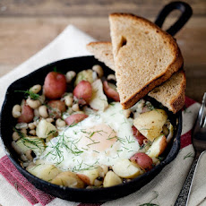 Black-Eyed Peas and Dill Potato Skillet